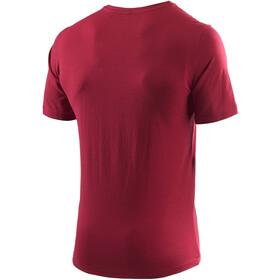 Löffler Transtex Single CF Printshirt Herren maroon